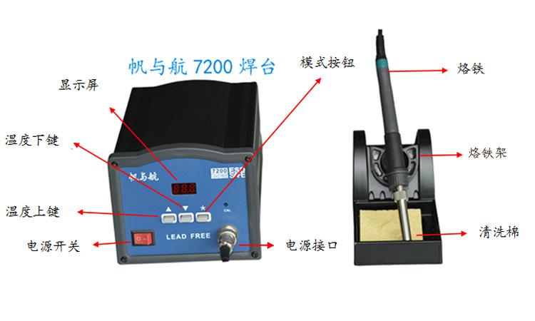 FYH7200大功率高温无铅焊台功能介绍